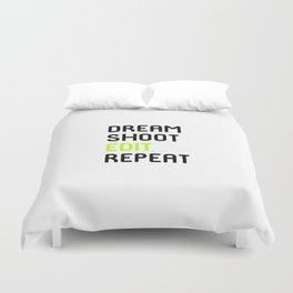 Dream Shoot Edit Repeat Film School Duvet Cover