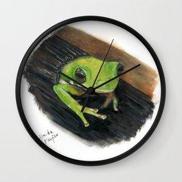 Peekaboo Tree Frog Wall Clock