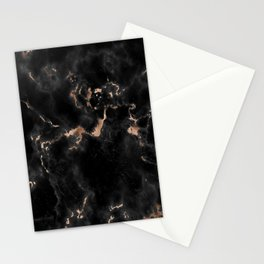 Rose Gold and Black Marble Stationery Cards