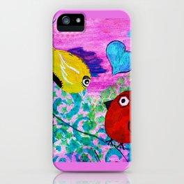 Love Birds - Quirky Birds Series iPhone Case