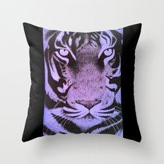 Be a Tiger (Purple) Throw Pillow