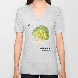Jj - Jellyjack // Half Jellyfish, Half Jackfruit Unisex V-Neck