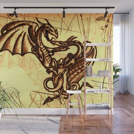 Battling Dragons - Mythical Creatures Wall Mural