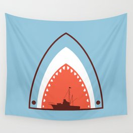 Great White Attack Wall Tapestry