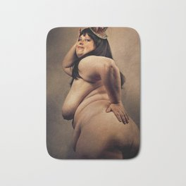 Big Beautiful naked Woman Bath Mat