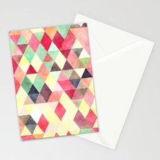 Triangles colors Stationery Cards