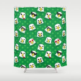 Eagles Emojis Shower Curtain