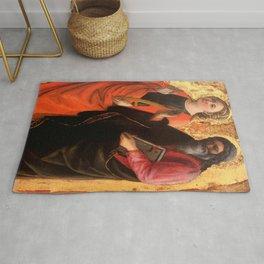 "Fra Filippo Lippi ""Saint Catherine and an evangelist"" Rug"
