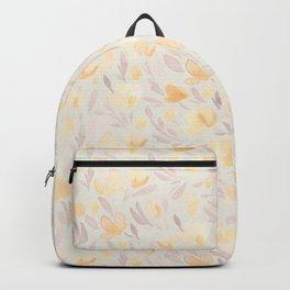 Floral watercolor orange pattern 2 Backpack