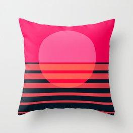 Abstraction_SUNSET_OCEAN_Minimalism_001 Throw Pillow