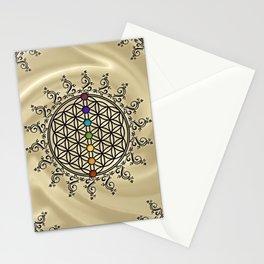 FLOWER OF LIFE, CHAKRAS, SPIRITUALITY, YOGA, ZEN, Stationery Cards