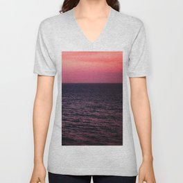 Pretty Pink Sunset Unisex V-Neck