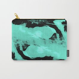 Abstract distortion (Cyan version) Carry-All Pouch