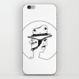 2 Hat Face iPhone Skin