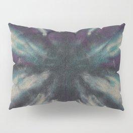 Tie Dye Black Turquoise Purple Pillow Sham