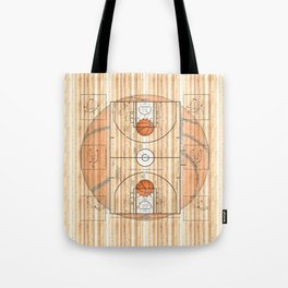 Basketball Court with Basketballs Tote Bag