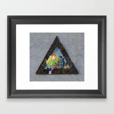 modern heidi Framed Art Print