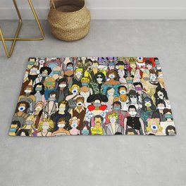 Face Mask Party Rug