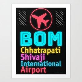 BOM Chhatrapati Shivaji International Airport Art Print