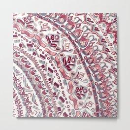 Loose Pink Tribal Pattern Metal Print