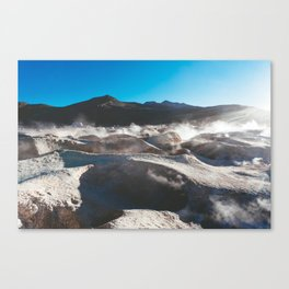 Geysers in the Atacama Desert, Bolivia Canvas Print