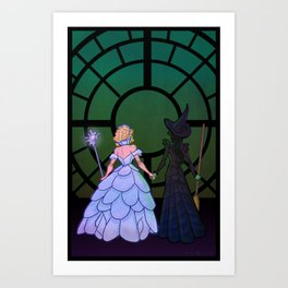 Glinda and Elphaba Art Print