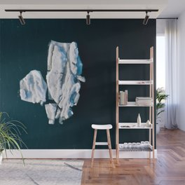 Lone, minimalist Iceberg from above - Landscape Photography Wall Mural
