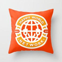HAPPY WORLD NEWS NETWORK Throw Pillow
