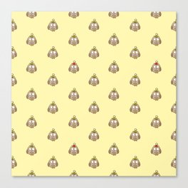 Funny Owl Pattern Canvas Print