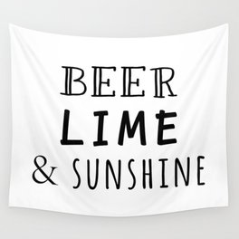 Beer Lime & Sunshine Wall Tapestry