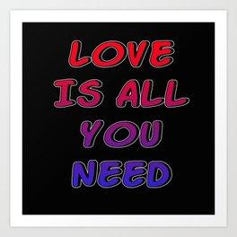 love is Art Print