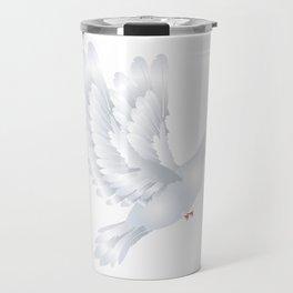 White Pigeon Travel Mug