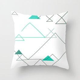 Tree Angle Green Throw Pillow