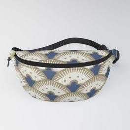 Fan Pattern Blue/Gold Fanny Pack