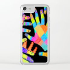 Hands of colors | Hands of light Clear iPhone Case