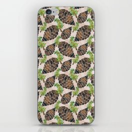 Watercolor Pine Cone Pattern iPhone Skin