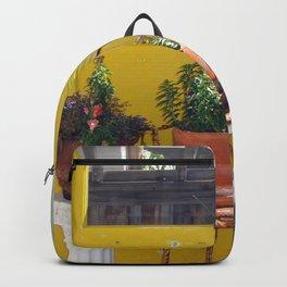 Yellow Door & Plants Backpack