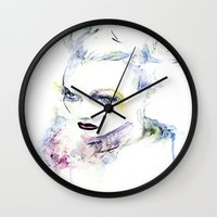 vogue Wall Clocks featuring Vogue by Chris Silver