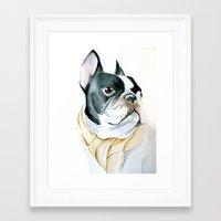 french bulldog Framed Art Prints featuring French Bulldog by Dr.Söd