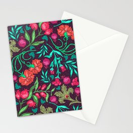 Asian-Inspired Happy Joy Colorful Floral Pattern Stationery Cards