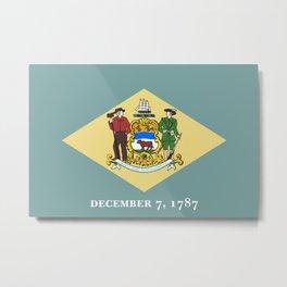Delaware State Flag Metal Print