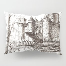 Swamp Fortress ink Pillow Sham