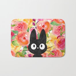 Jiji in Bloom Bath Mat