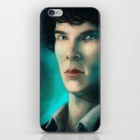 sherlock holmes iPhone & iPod Skins featuring Sherlock Holmes by Elzart