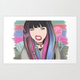 Heyviolet Art Print