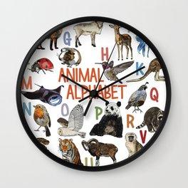 Animal Alphabet Wall Clock