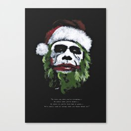 Be good. I will visit you on Christmas Eve ! Canvas Print