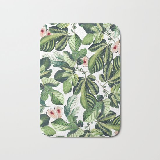 Fig Garden #society6 #decor #buyart Bath Mat