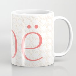 Zoe Means Life - Peach Coffee Mug