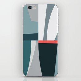 Organic Geometric 01 Blue iPhone Skin